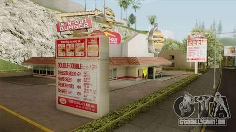 In N Out Mod para GTA San Andreas