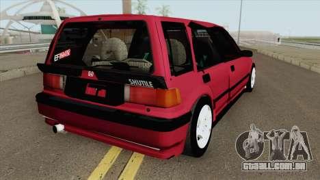 Honda Civic Wagon 1991 para GTA San Andreas
