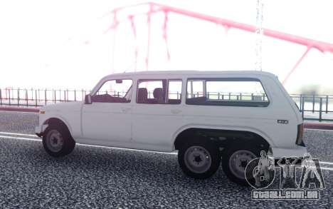 VAZ Niva 6x6 de Drenagem para GTA San Andreas