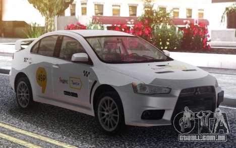 Mitsubishi Lancer Evolution X Yandex Táxi para GTA San Andreas