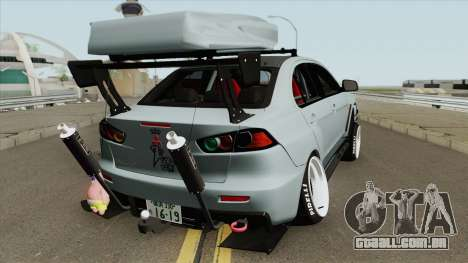 Mitsubishi Lancer Evolution X Hellaflush 2015 para GTA San Andreas
