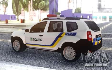 Renault Duster Polícia Da Ucrânia para GTA San Andreas
