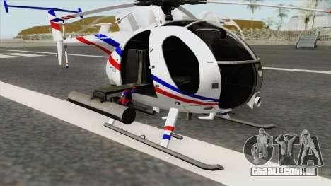 AH-6J Little Bird GBS News Chopper para GTA San Andreas