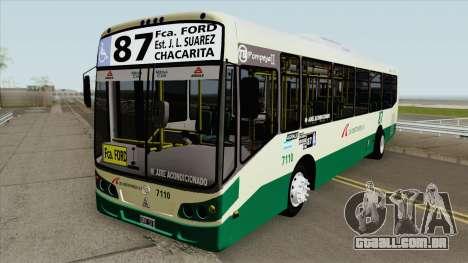 Linea 87 Todobus Pompeya II Agrale MT15 Interno para GTA San Andreas