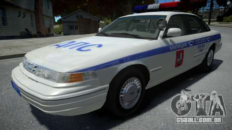 Ford Crown Victoria Moscow Police 1995 para GTA 4