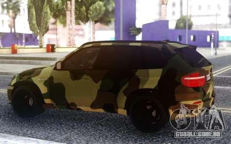 BMW X5M Dima Gordey (Camuflagem) para GTA San Andreas