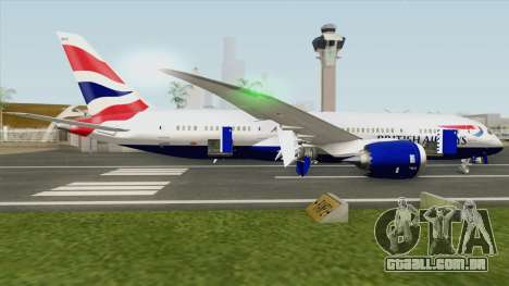 Boeing 787-8 Dreamliner (British Airlines) para GTA San Andreas