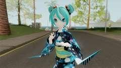 Miku Hatsune in Yukata Style para GTA San Andreas
