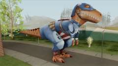 T-Rex Captain America From Avengers Academy para GTA San Andreas