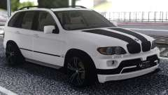 BMW X5 Black And White para GTA San Andreas