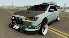 Mitsubishi Lancer Evolution X Hellaflush 2015 para GTA San Andreas