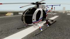 AH-6J Little Bird GBS News Chopper para GTA San Andreas
