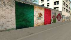 Graffiti De La Bandera De Mexico
