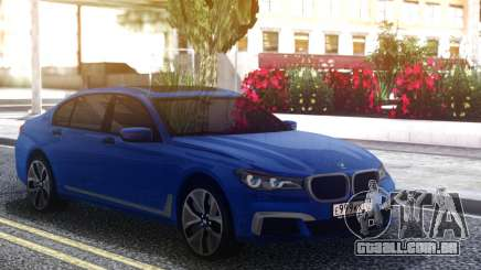 BMW 760Li Blue Sedan para GTA San Andreas