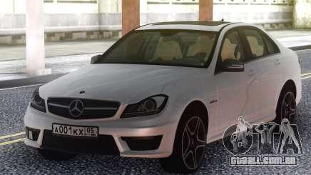 Mercedes-Benz C63 AMG W204 White para GTA San Andreas
