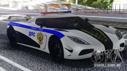 Koenigsegg Agera R Police para GTA San Andreas