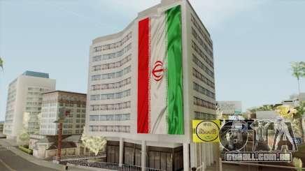 Iran Flag On Building para GTA San Andreas