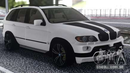 BMW X5 Black And White para GTA San Andreas