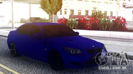 BMW M5 E60 Blue Sedan para GTA San Andreas