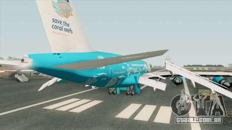 Airbus A380-800 (HiFly Livery) para GTA San Andreas