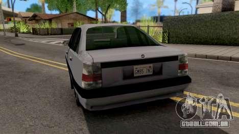 Chevrolet Omega SA Style para GTA San Andreas