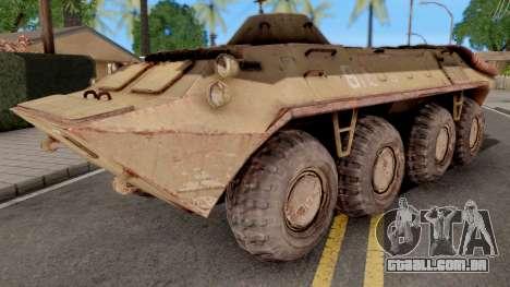 BTR 70 from S.T.A.L.K.E.R para GTA San Andreas