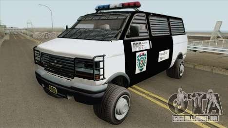 Declasse Burrito Police Transport R.P.D IVF para GTA San Andreas