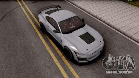 Ford Mustang Shelby GT500 2019 para GTA San Andreas