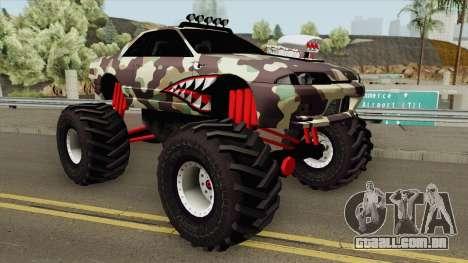 Nissan Skyline R32 Monster Truck Camo Shark para GTA San Andreas