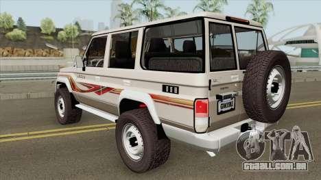 Toyota Land Cruiser LC76 V1 para GTA San Andreas
