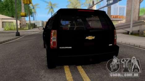 Chevrolet Suburban LT 2007 Black para GTA San Andreas