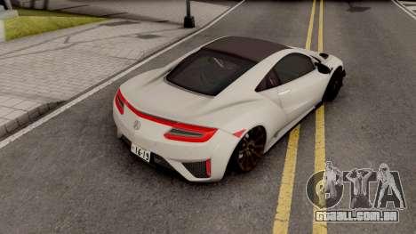 Acura NSX 2017 para GTA San Andreas