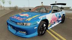 Nissan Silvia S14 RedBull (MTA Tokyo Drift) para GTA San Andreas