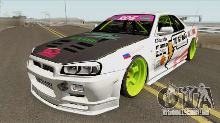 Nissan Skyline R34 GT-R (MTA Tokyo Drift) para GTA San Andreas