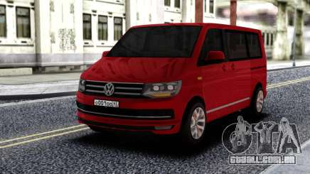 Volkswagen Caravelle Red para GTA San Andreas