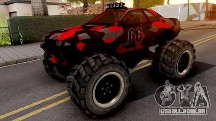 Nissan Skyline R32 Monster Truck Camo v2 para GTA San Andreas
