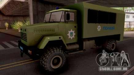 KrAZ-6322 Polícia Ucrânia para GTA San Andreas