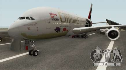 Airbus A380-800 (United For Wildlife Livery) para GTA San Andreas