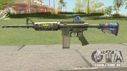 M4 (Ticket Skin) para GTA San Andreas