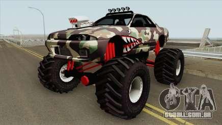 Nissan Skyline R32 Monster Truck Camo Shark MQ para GTA San Andreas