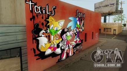 Sonic Wall Graffiti para GTA San Andreas