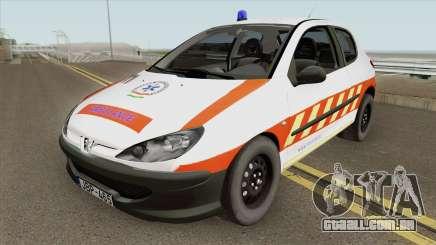 Peugeot 206 Mentoorvos para GTA San Andreas