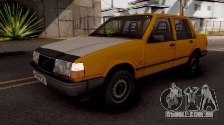 Volvo 460 Yellow Stock para GTA San Andreas