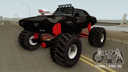 Pontiac Firebird Monster Truck Camo 1968 Black para GTA San Andreas