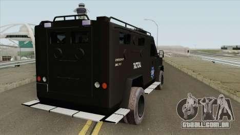 Lenco BearCat (SFPD Tactical Unit) para GTA San Andreas