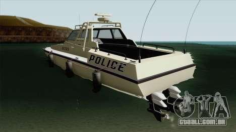 Police Predator GTA V para GTA San Andreas
