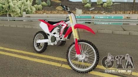 Honda CRF450R 2019 para GTA San Andreas