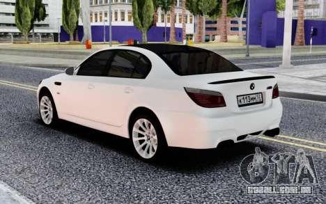 BMW M5 E60 BELA para GTA San Andreas