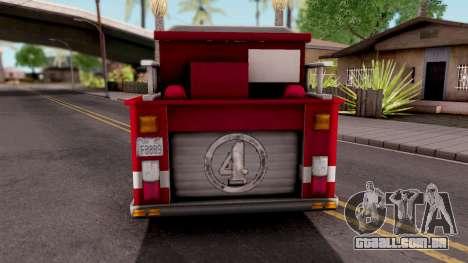 Firetruck GTA VC Xbox para GTA San Andreas