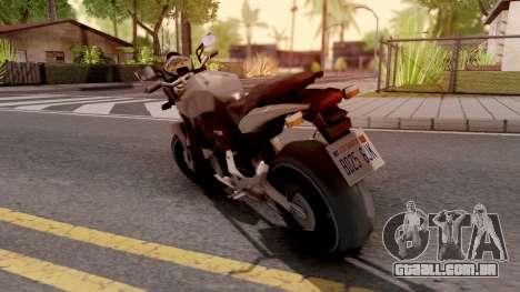 Honda CB Hornet 160R para GTA San Andreas